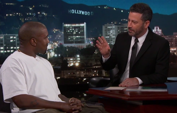 Kanye West Takes His Support of Trump to Jimmy Kimmel Live