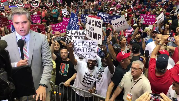 Jim Acosta Heckled in Tampa by 'Blacks for Trump'