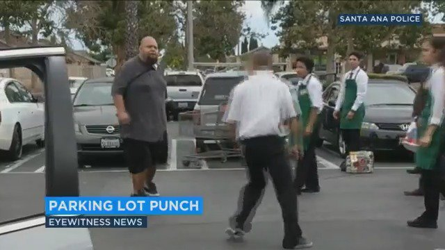 Giant Man Threatens Customers in Parking Lot, Gets Stopped By Good Samaritan