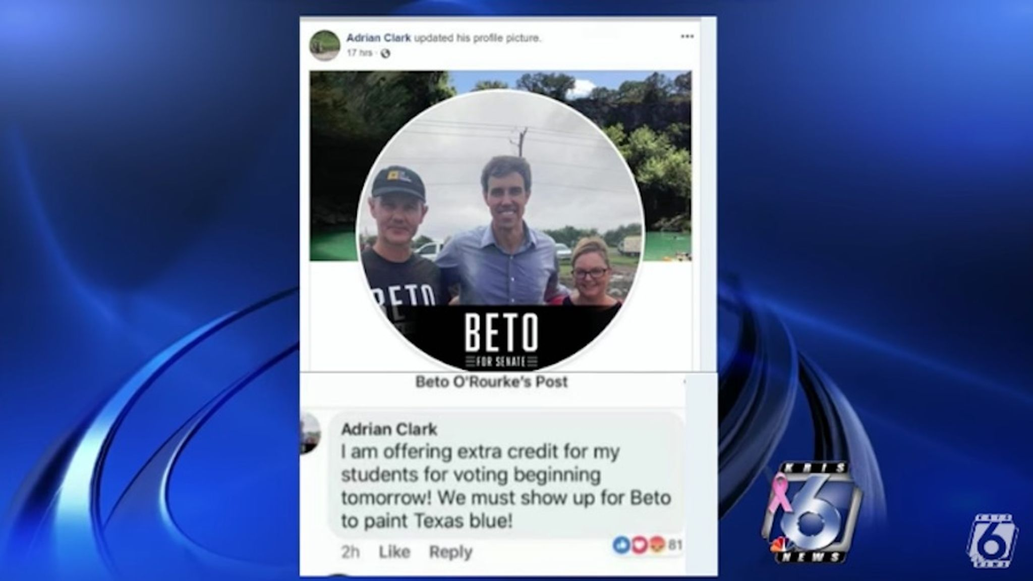 Texas College Professor Being Investigated For Offering Extra Credit to Vote for Beto O'Rourke