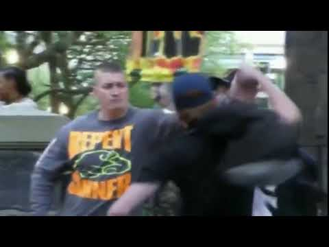 Good Guy Stops Antifa From Sucker-Punching Counter Protesters