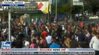 Mexican Protesters Scream at Illegal Immigrants