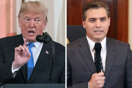 President Trump Threatened to Revoke Acosta's Press Pass