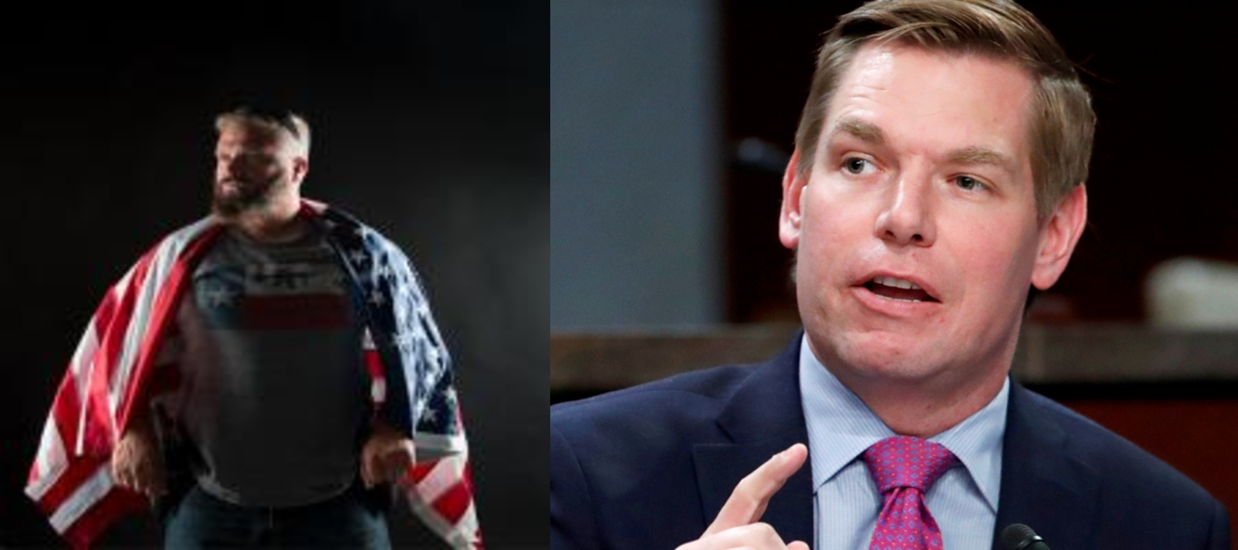 Joe Biggs and Eric Swalwell