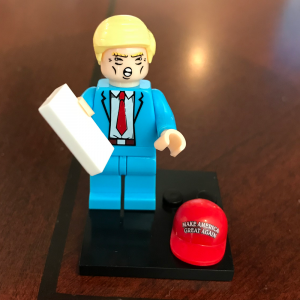 trump man lego figurine
