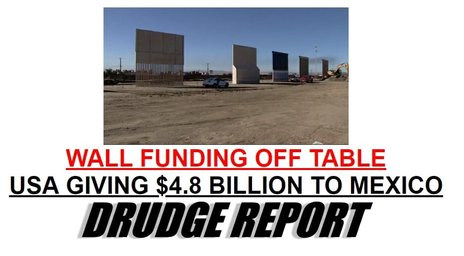 Border Wall Funding Off the Table
