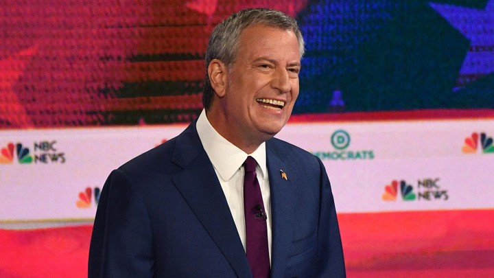 New York City Mayor Bill de Blasio worked seven hours