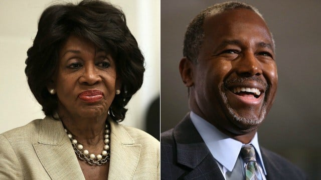 ben carson maxine waters