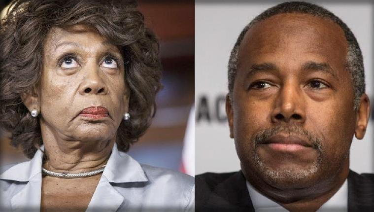 maxine waters ben carson