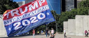 Trump 2020 Banner Unleashed at Yankee Stadium