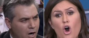 WATCH: Sarah Sanders Ejects Crazy Jim Acosta Out of the Oval Office