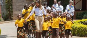 WATCH: Beautiful First Lady Melania Tours Africa, Dances With Children, Feeds Baby Elephants