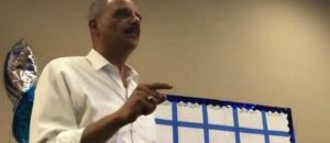 WATCH: Eric Holder: 'When They Go Low, We Kick Them'