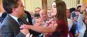 CNN Accuses Sarah Sanders of Posting Edited Video of Jim Acosta Chopping The Arm of Female Intern  at Trump Press Conference
