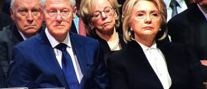 WATCH: The Look on Hillary Clinton's Face When President Trump and Melania Enter HW Bush's Funeral