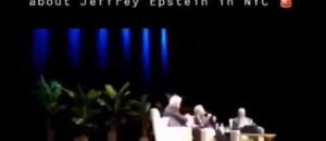 WATCH: Heckler Interrupts Bill and Hillary's Event - 'Bill This Is Boring! Talk About Jeffrey Epstein!'