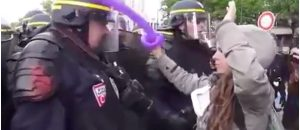 WATCH: Snowflake Protester Triggered When Cop Pushes Balloon out of her Hand