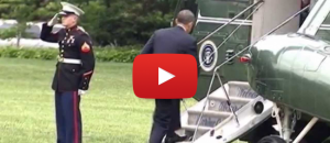 Obama Forgets to Salute Marine - Watch What Happens Next