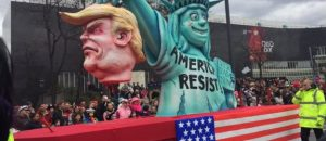 Beheaded Trump on a German Parade Float