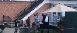 President Trump Attends the U.S. Women's Open - The Crowd Goes Wild - VIDEO