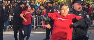 Illegal Alien Protesters Block Macy's Thanksgiving Day Parade - VIDEO