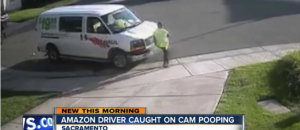 Amazon Delivery Driver Takes a Dump In Front Of Person's House And Takes Off - VIDEO