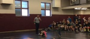 Little Brother Thinks His Sister's Wrestling Match Is Real, Rushes To Her Defense - VIDEO