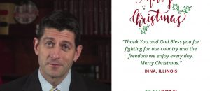 Paul Ryan Reads Letters From Civilians To The Military, THANKING Them - VIDEO