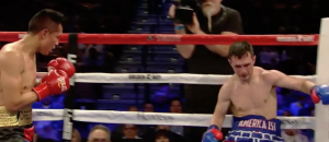 American Boxer Enters the Ring Wearing Trump Wall Trunks
